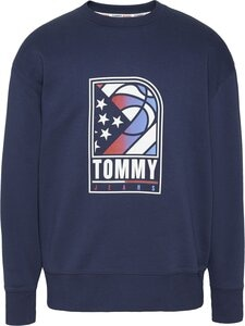 Tommy Jeans - Basketball Crew -collegepaita - C87 TWILIGHT NAVY | Stockmann