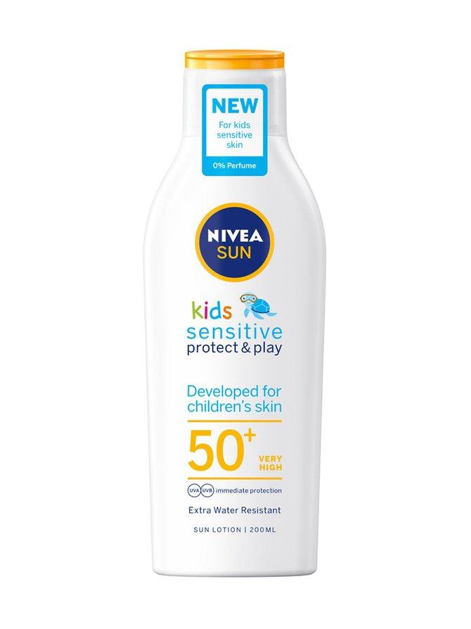 Sun Kids Sensitive Protect Play Sun Lotion SPF 50+ -aurinkosuojavoide 200 ml