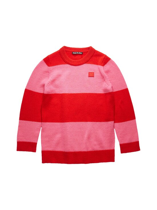 Acne Studios - Mini Nimah Block Stripe Crewneck -villaneule - RED/BUBBLEGUM PINK BZC | Stockmann - photo 1