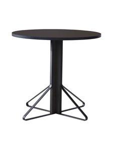 Artek - REB003 Kaari -pöytä, linoleum - BLACK LINOLEUM/BLACK OAK (MUSTA) | Stockmann