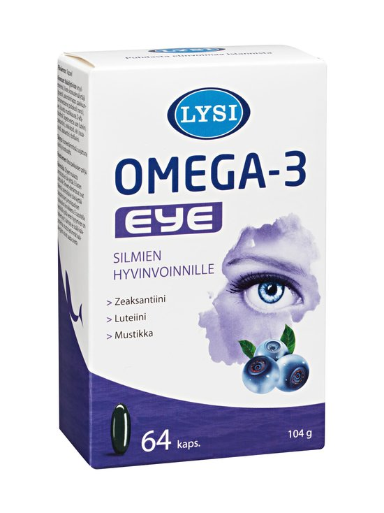 Lysi - Omega-3 Eye -ravintolisä 64 kaps. - null | Stockmann - photo 1
