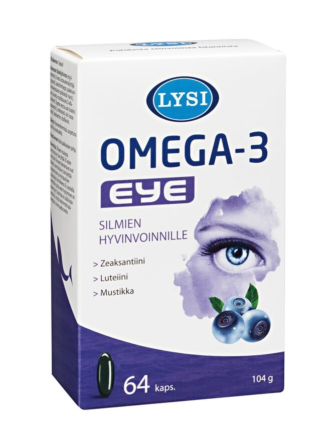Omega-3 Eye -ravintolisä 64 kaps./104 g