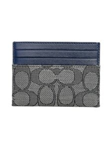Coach - Card Case In Signature Jacquard -korttikotelo - B4RH3 B4/NAVY MIDNIGHT NAVY | Stockmann