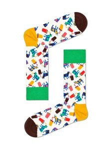 Happy Socks - Milkshake Cow -sukat - 1300 WHITE | Stockmann