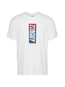 Tommy Jeans - Vertical Front Logo Box Tee -paita - YBR WHITE   Stockmann