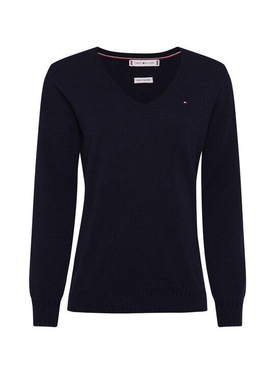 Tommy Hilfiger - Wool Cashmere V-Nk Sweater -neule - DW5 DESERT SKY | Stockmann - photo 1