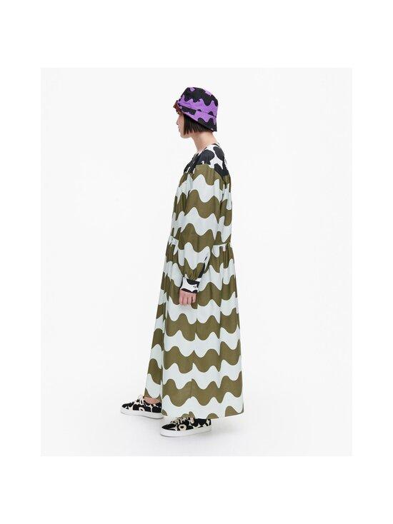 Marimekko - CO-CREATED Hohtosini dress -mekko - 116 DARK GREEN, OFF-WHITE, BLACK   Stockmann - photo 5