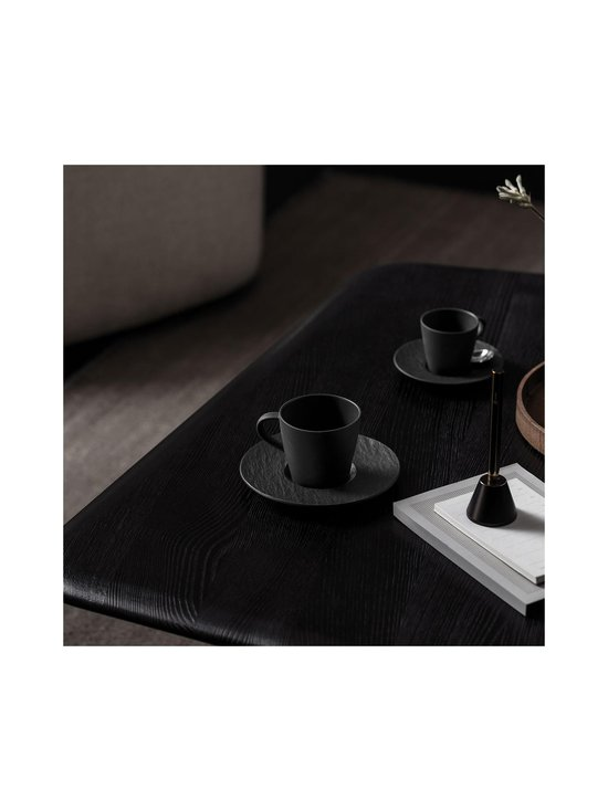 Villeroy & Boch - Manufacture Rock -kahvikupin aluslautanen 15,5 cm - BLACK   Stockmann - photo 2