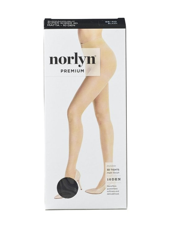 Norlyn - Premium Super Sheer 3D 10 den -sukkahousut - BLACK | Stockmann - photo 1