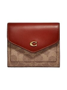 Coach - Wyn Small Wallet In Colorblock With Signature Canvas -lompakko - B4/TAN RUST | Stockmann