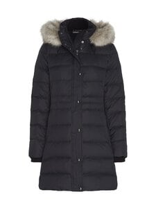 Tommy Hilfiger - Essential Down-Filled Faux Fur Trim Coat -untuvatakki - BDS BLACK | Stockmann