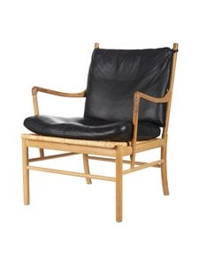 Carl Hansen&Son - OW149 Colonial -tuoli - OAK/WHITE OIL/BLACK (TAMMI/MUSTA) | Stockmann