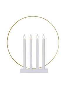 Star - Candlestick Glory 4L -sähkökynttelikkö 45 x 42 x 7,5 cm - VALKOINEN   Stockmann