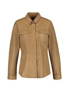 Gerry Weber - Leather Shirtjacket -nahkajakku - 70194 TANNIN | Stockmann