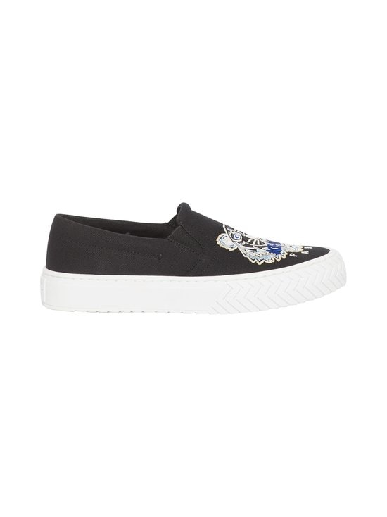 Kenzo - K-Skate Tiger Slip-On -sneakerit - 99 - CANVAS TIGER HEAD EMBROIDERY - BLACK | Stockmann - photo 1
