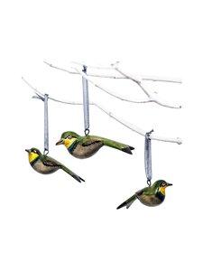 Mifuko - Wooden Green Bird -joulukoriste 9 cm - GREEN | Stockmann