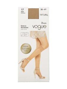 Vogue - Knee-high Sideria Sandalett 17 den -polvisukat 2-pack - 9060 NATURAL   Stockmann