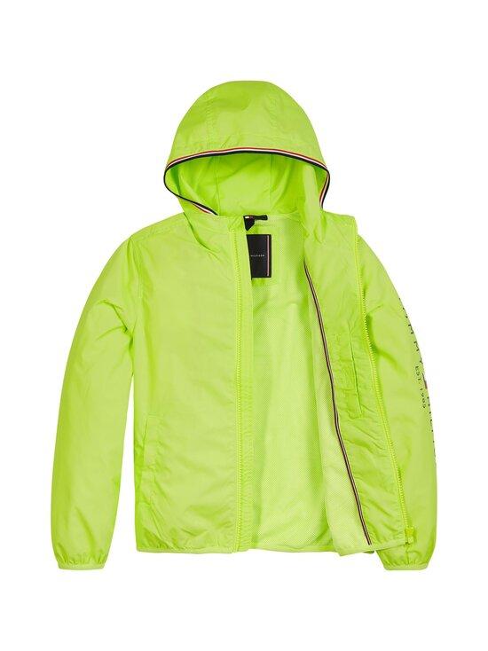 Tommy Hilfiger - Essential Hooded Logo Jacket -takki - LT4 SOUR LIME | Stockmann - photo 4