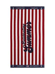 Lexington - Graphic Cotton Velour Beach Towel -pyyhe 100 x 180 cm - RED/WHITE   Stockmann