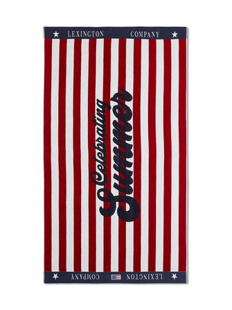 Graphic Cotton Velour Beach Towel 100 x 180 cm - Lexington