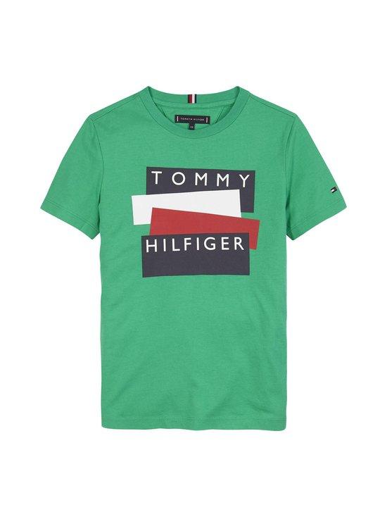 Tommy Hilfiger - Sticker Tee -paita - L3V COSMIC GREEN | Stockmann - photo 1