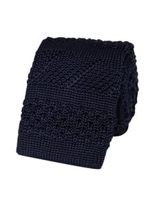 Tommy Hilfiger Tailored - Silk Stripe Knitted Tie -silkkisolmio - DW4 NAVY | Stockmann