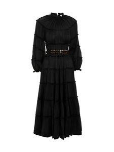 Zimmermann - Silk Tiered Midi Dress -silkkimekko - BLACK BLK | Stockmann
