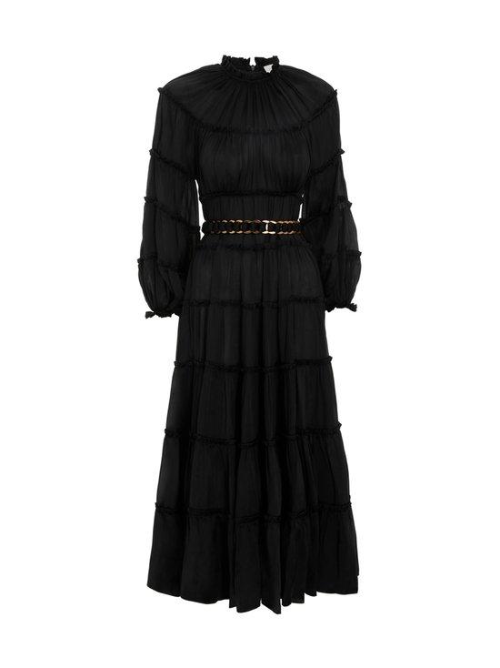 Zimmermann - Silk Tiered Midi Dress -silkkimekko - BLACK BLK | Stockmann - photo 1