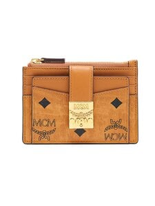 MCM - Mini Patricia Zip Card Case in Visetos -korttikotelo - CO COGNAC | Stockmann