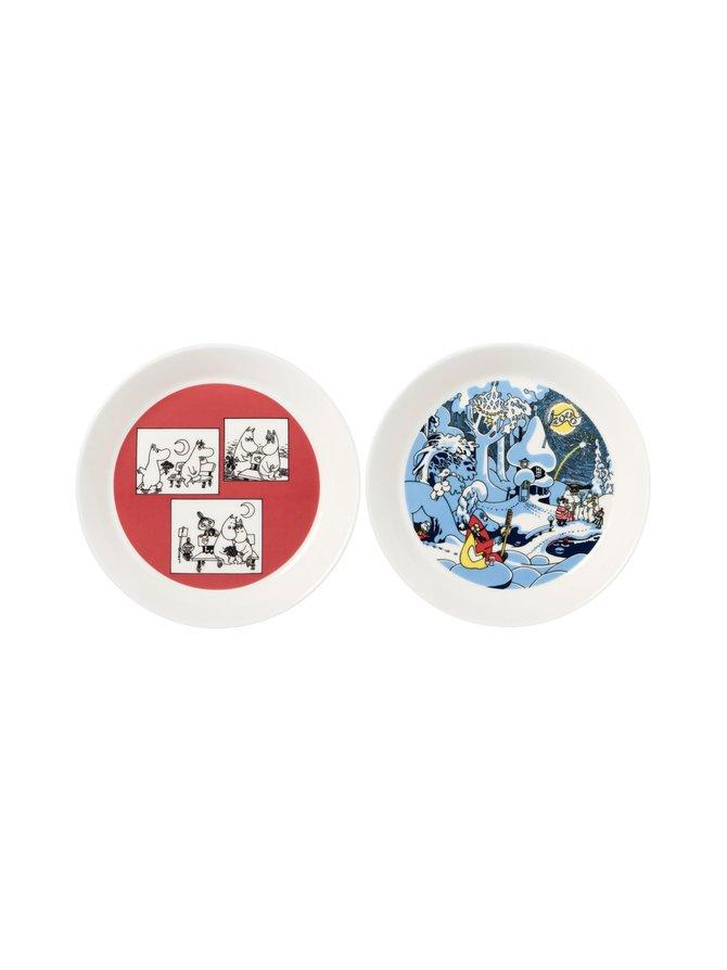Muumit Millenium & Roosa -lautanen 19 cm