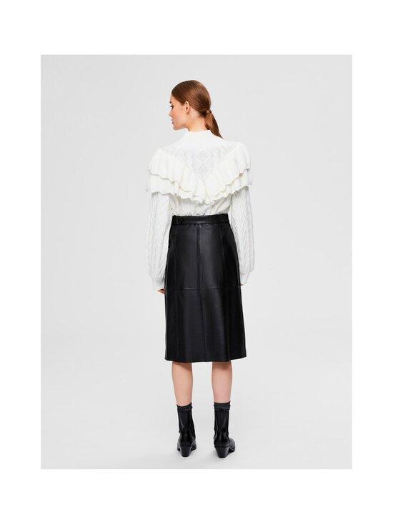 Selected - SlfOlly HW Midi Leather Skirt -nahkahame - BLACK | Stockmann - photo 2