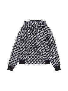 Calvin Klein Jeans Plus - Plus Size All-Over Logo Hoodie -huppari - 0GJ INSTITUTIONAL LOGO AOP BLACK/ WHITE   Stockmann