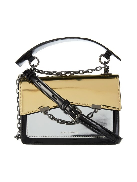 Karl Lagerfeld - K/Karl Seven Mirror-Effect Shoulder Bag -nahkalaukku - 290 SILVER | Stockmann - photo 1