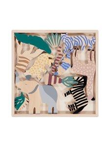 Ferm Living - Safari Animal Box -puueläimet 12 kpl - MULTI | Stockmann
