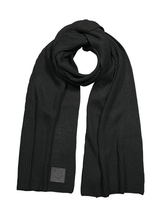 Karl Lagerfeld - K/Ikonik Patch Scarf -huivi - 999 BLACK | Stockmann - photo 1