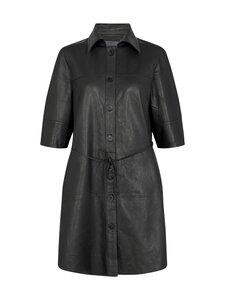 MOS MOSH - Beatrice Long Leather Shirt -mekko - BLACK | Stockmann