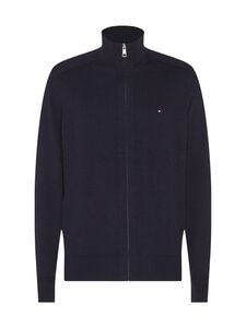 Tommy Hilfiger - Pima Cotton Cashmere Zip Through -neuletakki - DV6 DESERT SKY HEATHER | Stockmann