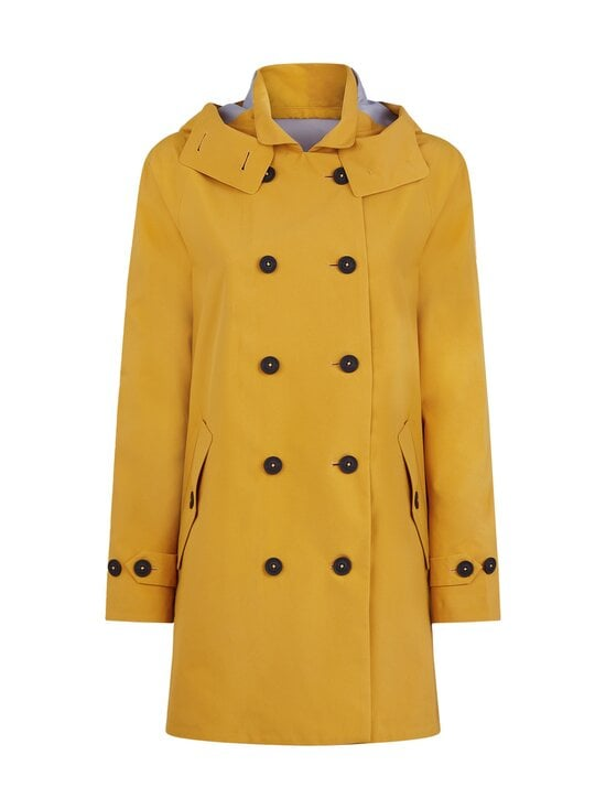 Save The Duck - Grin Brooke trench coat w hoodLC03/21 -takki - 60000 OCHRE YELLOW | Stockmann - photo 1