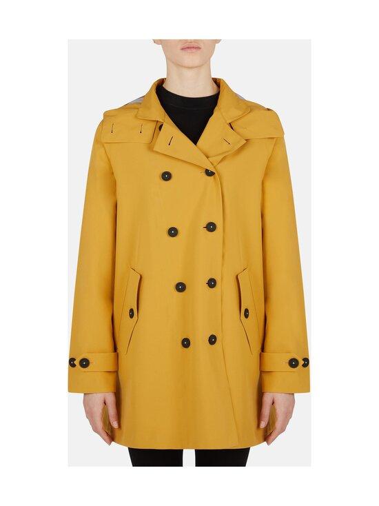 Save The Duck - Grin Brooke trench coat w hoodLC03/21 -takki - 60000 OCHRE YELLOW | Stockmann - photo 3