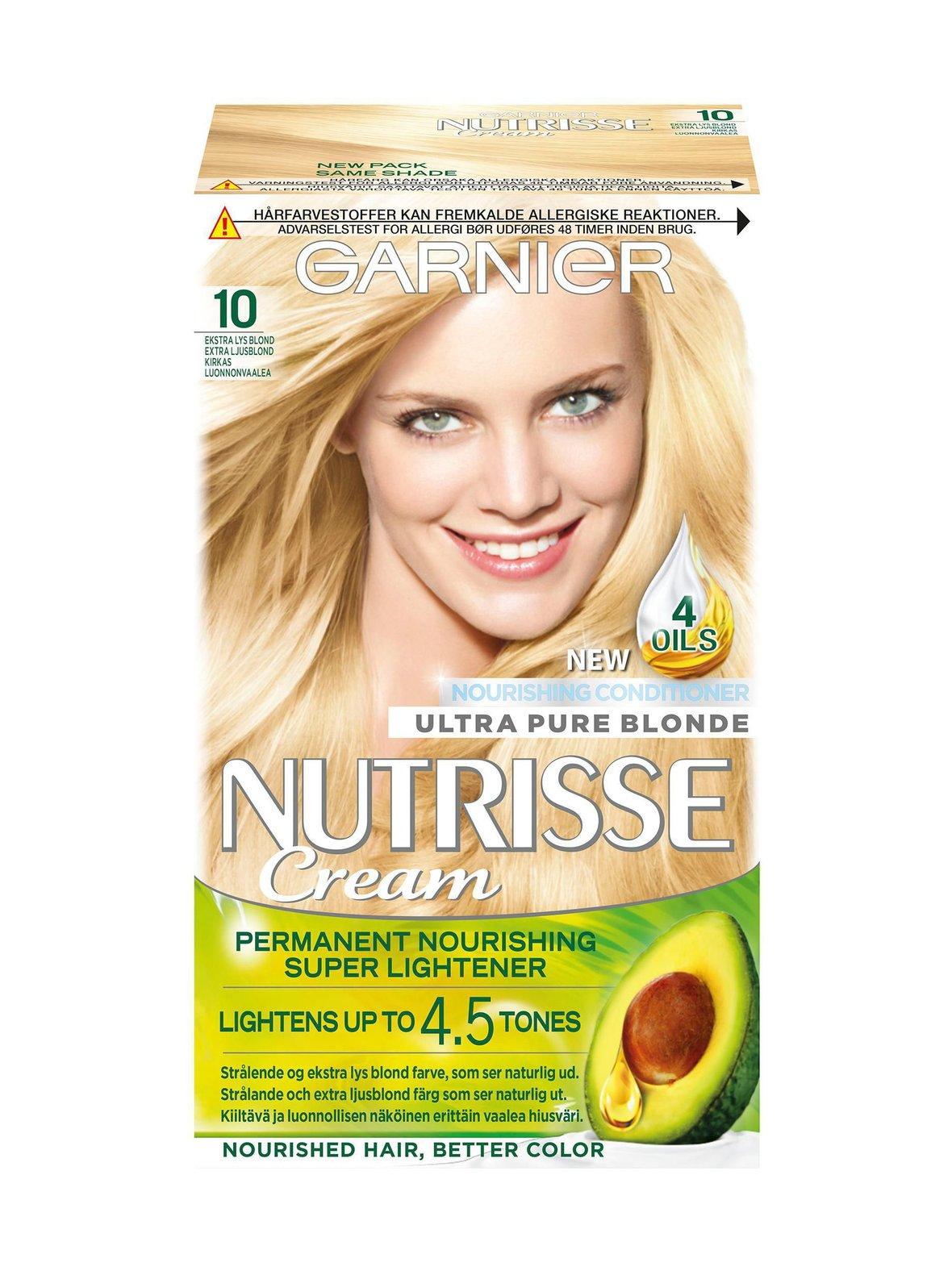 10 Kirkas Luonnonvaalea kestoväri Garnier Nutrisse Cream -kestoväri ... 80fe401250