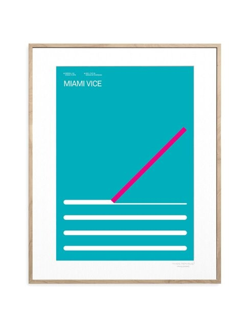 Iconic TV by Exergian Miami Vice -juliste 30 x 40 cm