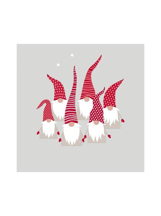Paper+Design - Scandic Santas -servetti 24 cm - GREY-RED-WHITE   Stockmann - photo 1