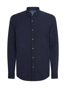 Calvin Klein Menswear - Slim Fit Piqué Knitted Shirt -paita - DW4 CALVIN NAVY   Stockmann