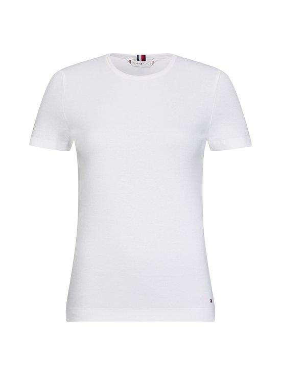 Tommy Hilfiger - Essentials Ribbed Slim Fit T-Shirt -paita - YBR WHITE | Stockmann - photo 1