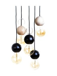 QUU Design - Group LB -riippuvalaisin - BLACK/NATURAL/GLASS | Stockmann
