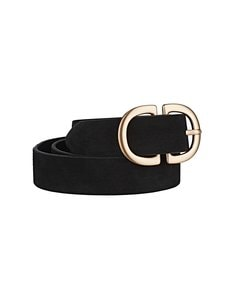 Pieces - PcJuva-nahkavyö - BLACK DETAIL:W BRUSHED GOLD BUCKLE | Stockmann