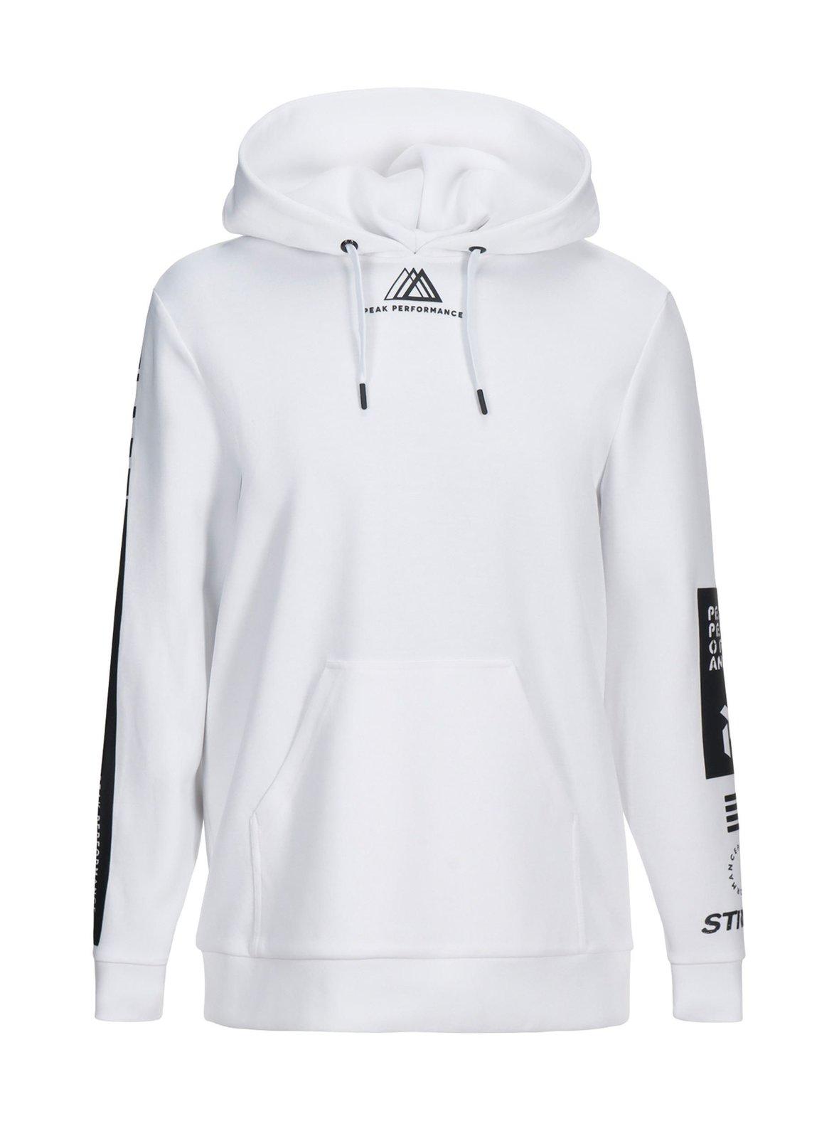 White (valkoinen) Peak Performance M Tech Cotton Blend Zip-Up Hoodie ... 03f6fb089c