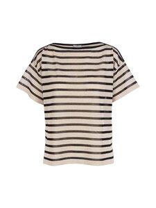 Marella - Dolmen Knit Top Stripes -neule - 002 WHITE | Stockmann