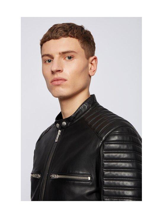 BOSS - Jakoby Leather -nahkatakki - 001 BLACK   Stockmann - photo 4