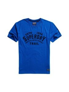 Superdry - Heritage Mountain Relax Tee -paita - BYE CLASSIC BLUE | Stockmann